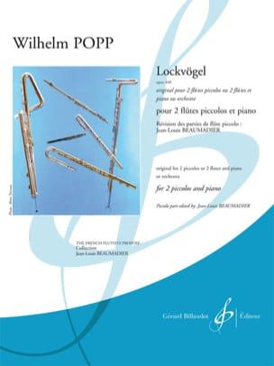 Lockvögel Opus 449 Wilhelm Popp Partition Trios - laflutedepan