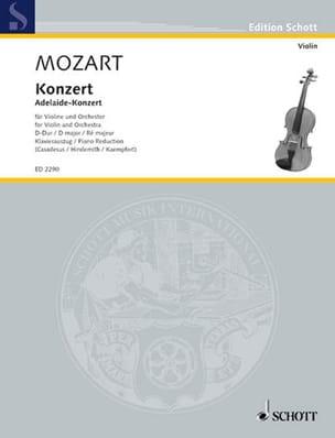 Concerto Violon en ré majeur MOZART Partition Violon - laflutedepan
