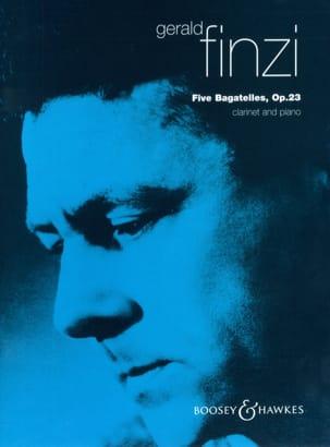 5 Bagatelles op. 23 Gerald Finzi Partition Clarinette - laflutedepan