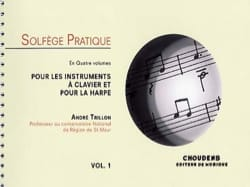 Solfège pratique - Volume 1 - Clavier et harpe laflutedepan