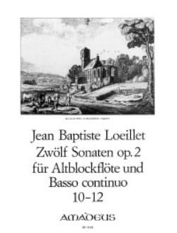 12 Sonaten op. 2 : n° 10-12 - Altblockflöte u. Bc laflutedepan