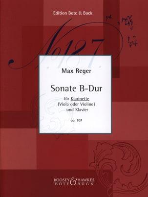 Sonate B-Dur Op. 107 - Klarinette Klavier Max Reger laflutedepan