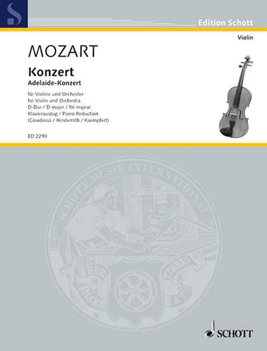 Concerto Violon en ré majeur - MOZART - Partition - laflutedepan.com