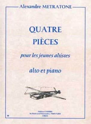 4 Pièces - Alexandre Metratone - Partition - Alto - laflutedepan.com