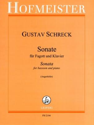 Sonate -Fagott Klavier Gustav Schreck Partition Basson - laflutedepan
