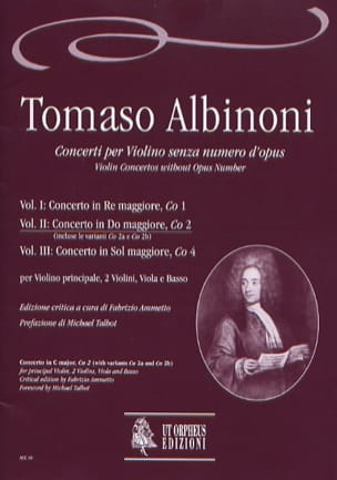 Concerto En Do Maj. - Co2 - Vol.2 ALBINONI Partition laflutedepan