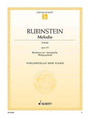 Mélodie Op.3 N°1 Anton Rubinstein Partition Violoncelle - laflutedepan