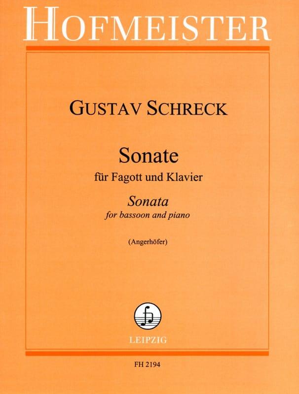 Sonate -Fagott Klavier - Gustav Schreck - laflutedepan.com
