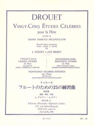 25 Etudes célèbres - Flûte Louis Drouet Partition laflutedepan