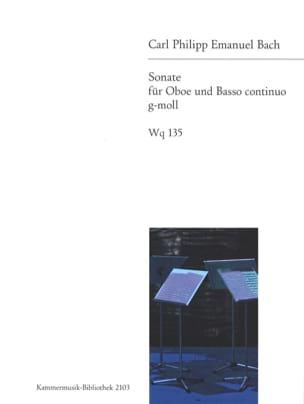Sonate g-moll Wq 135 -Hautbois et basse continue laflutedepan