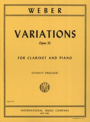 Variations op. 33 Carl Maria von Weber Partition laflutedepan