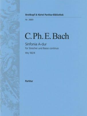 Symphonie, Nr. 4 A-dur Wq 182/4 Carl Philipp Emanuel Bach laflutedepan