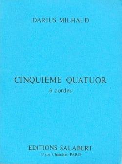 Quatuor à cordes n° 5 - Conducteur - MILHAUD - laflutedepan.com