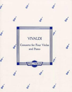 Concerto for 4 Violas and piano VIVALDI Partition laflutedepan