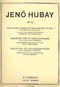 Variations sur un thème hongrois, op. 72 Jenö Hubay laflutedepan