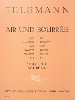 Air et Bourrée - Blockflöte Gitarre TELEMANN Partition laflutedepan
