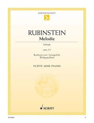 Mélodie Op.3 N°1 Anton Rubinstein Partition laflutedepan