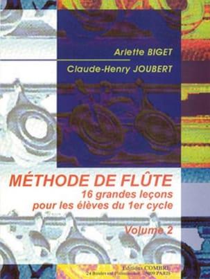 Méthode de Flûte Volume 2 BIGET - JOUBERT Partition laflutedepan