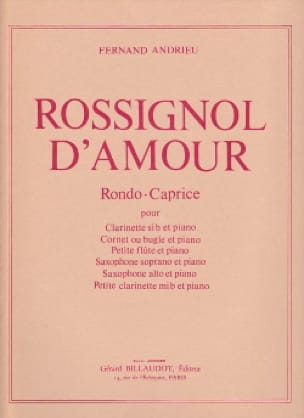 Rossignol d'amour - Clarinette - Fernand Andrieu - laflutedepan.com