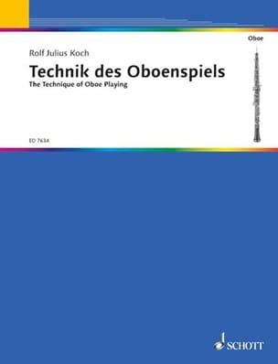 Die Technik des Oboenspiels Rolf Julius Koch Partition laflutedepan