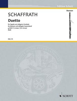 Duetto en Sol Mineur Christoph Schaffrath Partition laflutedepan
