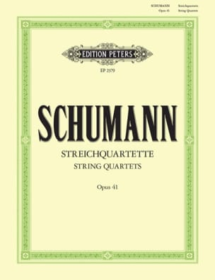 Streichquartette op. 41 -Stimmen SCHUMANN Partition laflutedepan