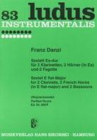 Sextett Es-Dur Franz Danzi Partition Grand format - laflutedepan