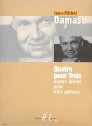 Quatre pour trois - Jean-Michel Damase - Partition - laflutedepan.com