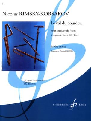 Le Vol du Bourdon - 4 Flûtes RIMSKY-KORSAKOV Partition laflutedepan