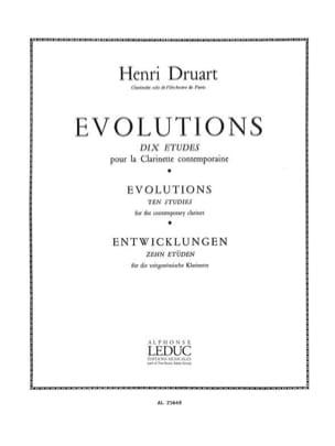 Evolutions - Henri Druart - Partition - Clarinette - laflutedepan.com