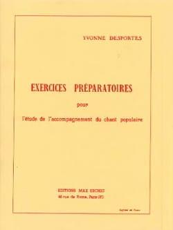 Yvonne Desportes - Exercices Préparatoires - Partition - di-arezzo.fr
