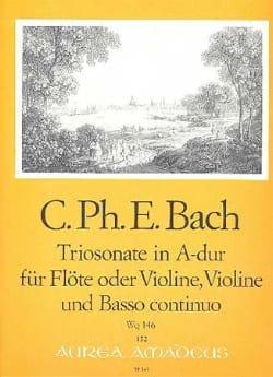 Triosonate A-Dur Wq 146 -Flöte o. Violine Violine u. Bc laflutedepan