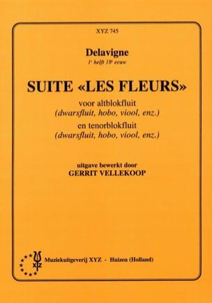 Suite Les fleurs -2 Blockflöten Delavigne Partition laflutedepan
