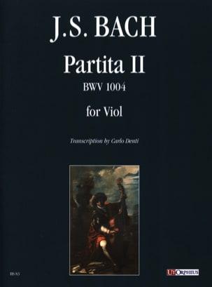 Partita II - Bwv 1004 - BACH - Partition - laflutedepan.com
