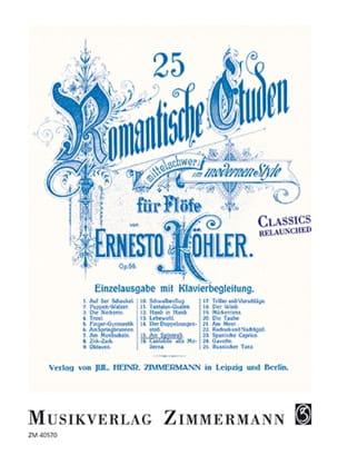 25 études romantiques op. 66 - N°15, Au rouet Am Spinnrad - laflutedepan.com