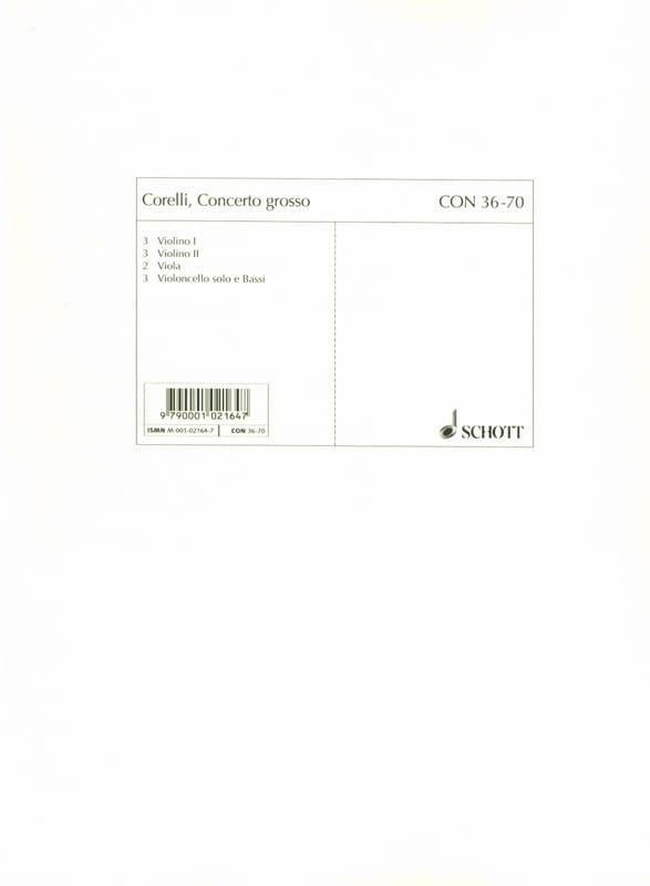 Concerto Grosso g-moll, op. 6 n° 8 - Set cordes - laflutedepan.com