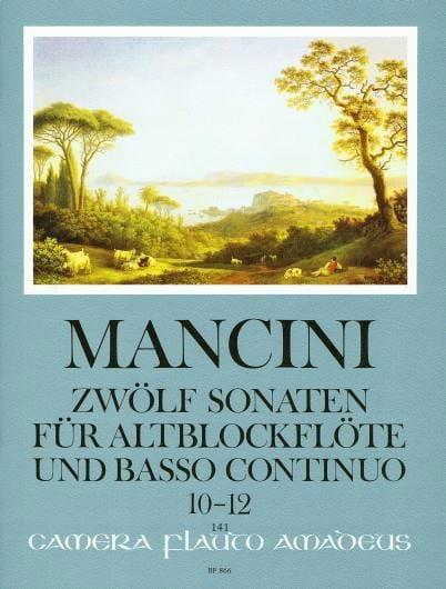 12 Sonaten - Nr. 10-12 - Altblockflöte u. Bc - laflutedepan.com