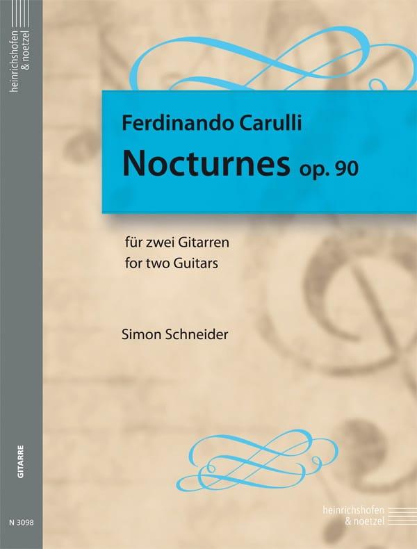Nocturnes, op. 90 - Ferdinando Carulli - Partition - laflutedepan.com