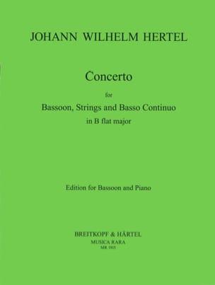 Concerto in B flat Johann Wilhelm Hertel Partition laflutedepan
