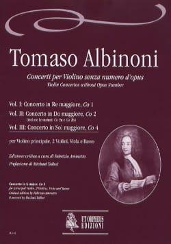 Concerto En Sol Maj. Co4 Vol.III ALBINONI Partition laflutedepan