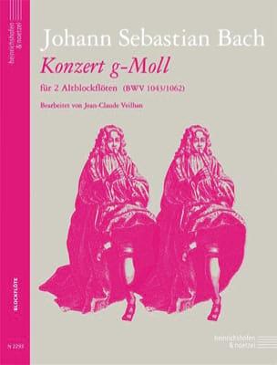 Concerto en sol mineur Johann Sebastian Bach Partition laflutedepan