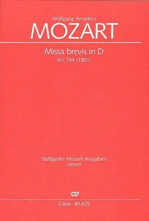 Missa Brevis in D KV 194 - MOZART - Partition - laflutedepan.com