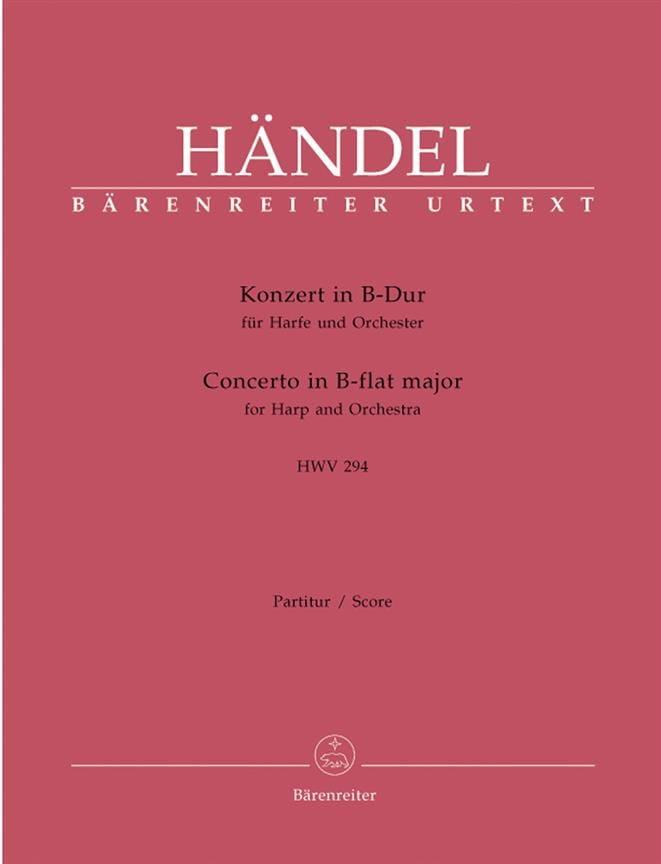 Konzert in B-Dur für Harfe u. Orchester HWV 294 - laflutedepan.com