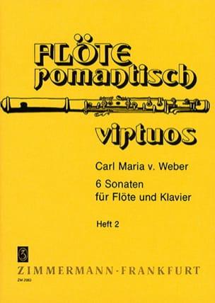 6 Sonaten - Heft 2 - Flöte Klavier Carl Maria von Weber laflutedepan