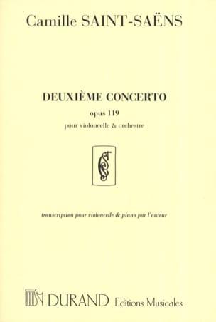 Concerto Violoncelle n° 2 op. 119 SAINT-SAËNS Partition laflutedepan