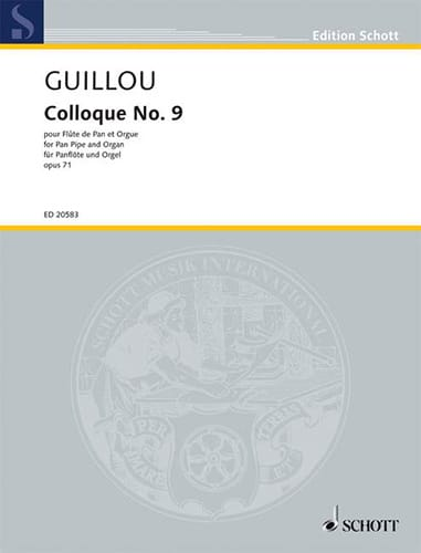 Colloque N°9 Op.71 - Jean Guillou - Partition - laflutedepan.com