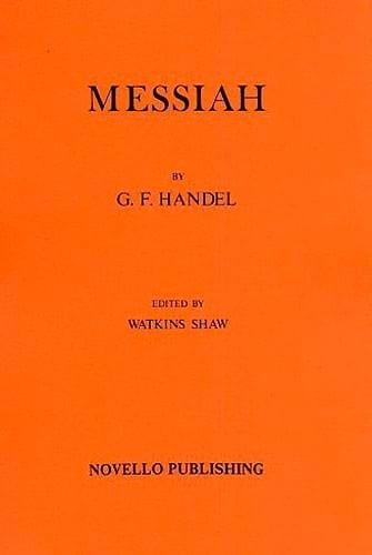 Le Messie - Conducteur - HAENDEL - Partition - laflutedepan.com