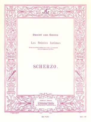 Scherzo op. 12 n° 2 Goens Daniel Van Partition laflutedepan
