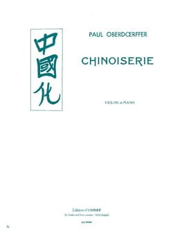 Chinoiserie Paul Oberdoerffer Partition Violon - laflutedepan