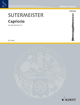 Capriccio Heinrich Sutermeister Partition Clarinette - laflutedepan